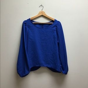 Coco love Blue Flowy Top Small